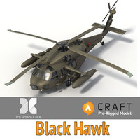 blackhawk pre-rigged craft director 3d model