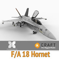 3ds max pre-rigged f a-18 hornet