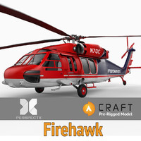 S-70A Firehawk Helicopter Pre-Rigged for Craft Director Tools