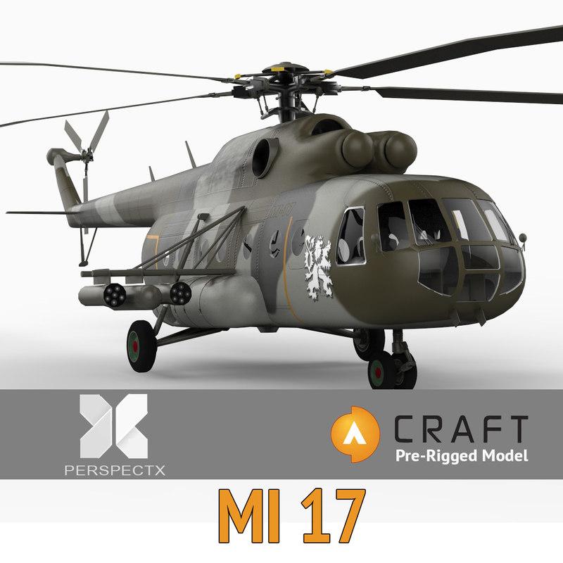 mi-17 pre-rigged craft director 3d model