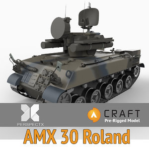 3ds pre-rigged amx-30 roland rigged