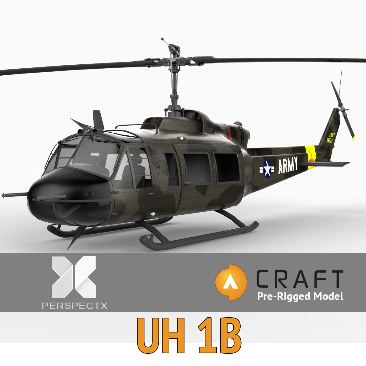 Uh1 Pre Rigged For Craft Director Tools