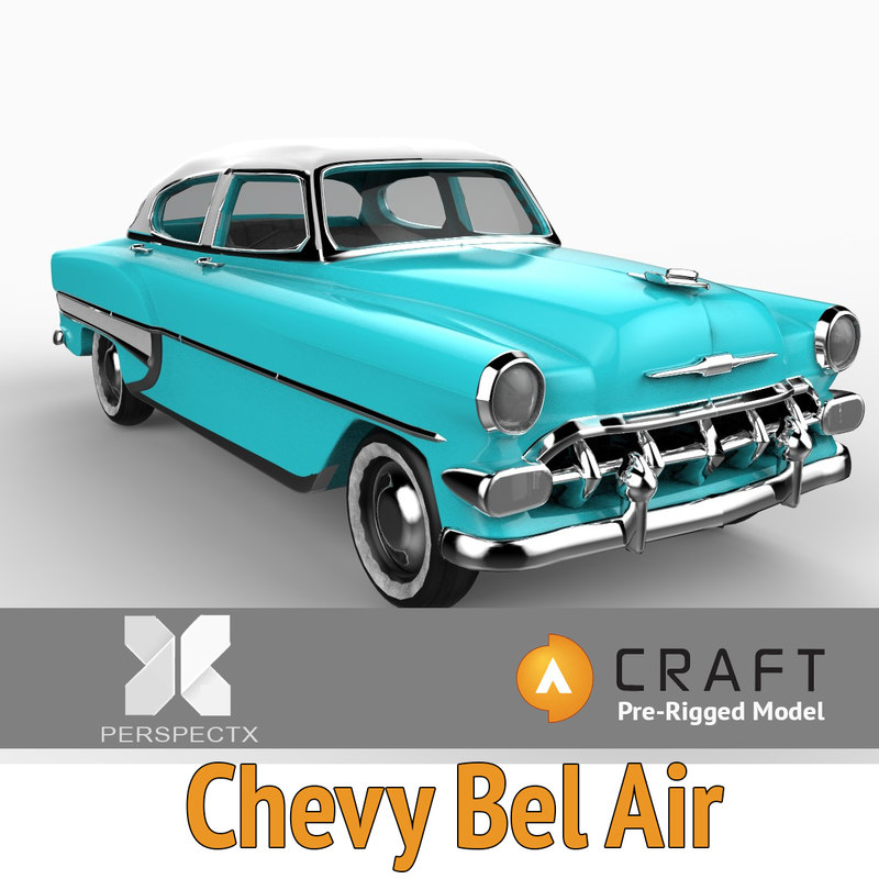 pre-rigged chevy bel air 3d 3ds