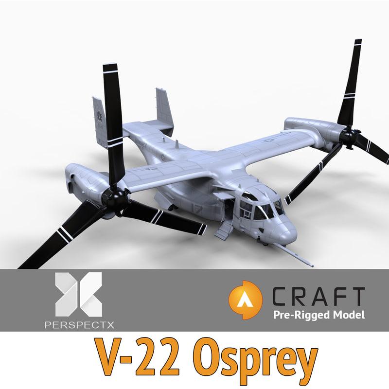 3d pre-rigged osprey craft director model