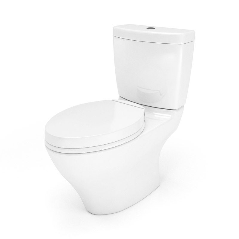 3d aquia ii toilet toto model