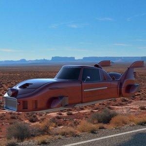 3d flying car