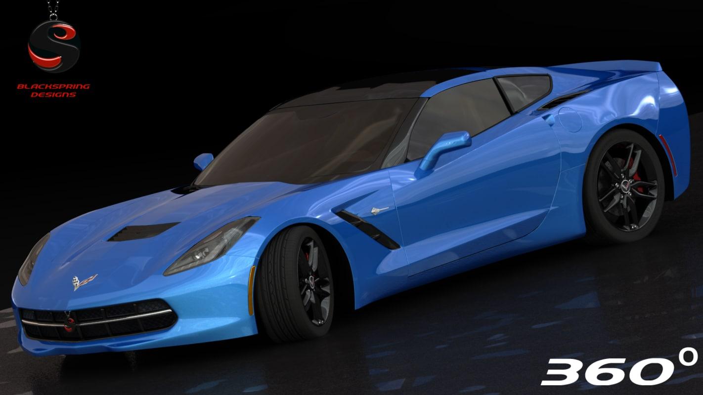 3d model chevrolet corvette c7 z51