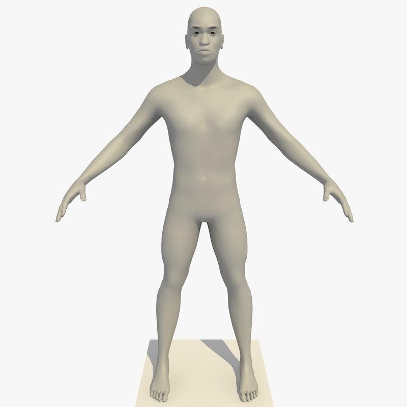 3d realistic base mesh 24