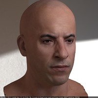 vin diesel head male 3d max