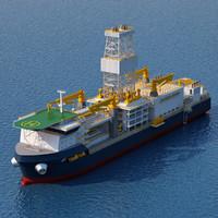 3d drillship drill ship