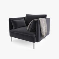 3d ikea soderhamn chair seat