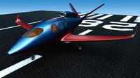 3d model of jet