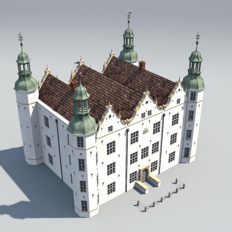 3d german renaissance castle