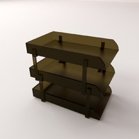 3d document tray model