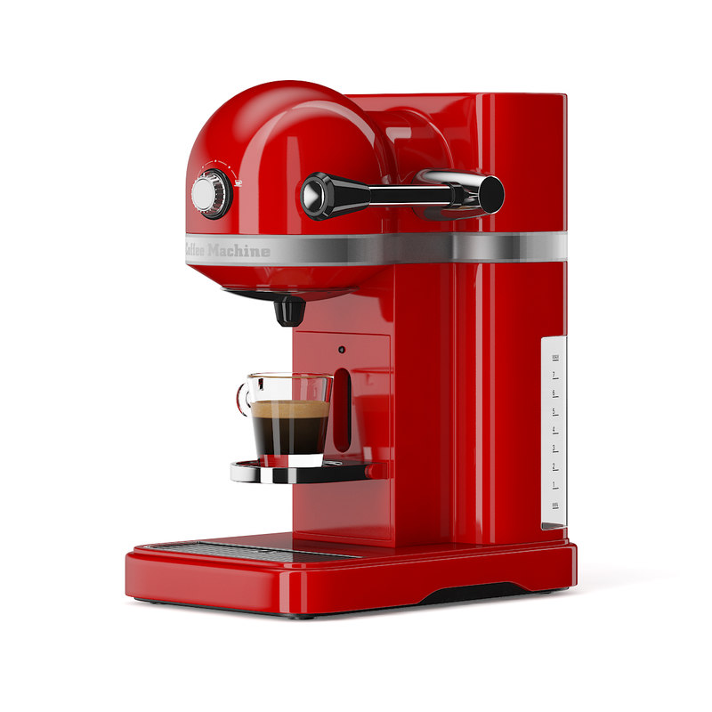 3d max red espresso machine