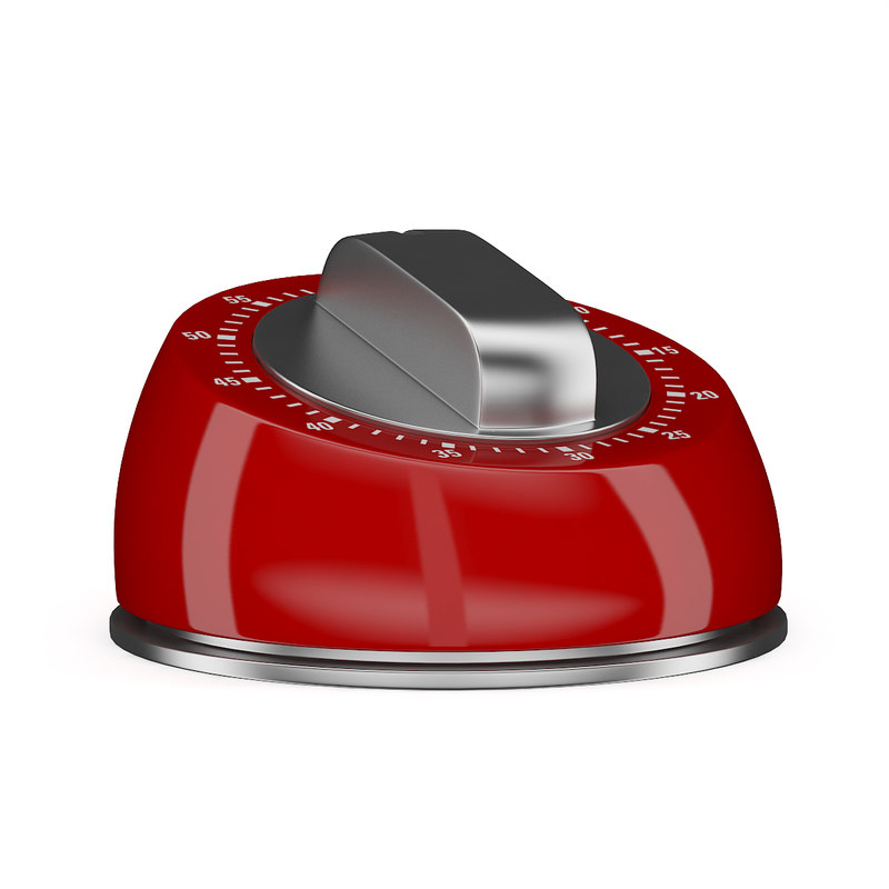 red kitchen timer 3d c4d