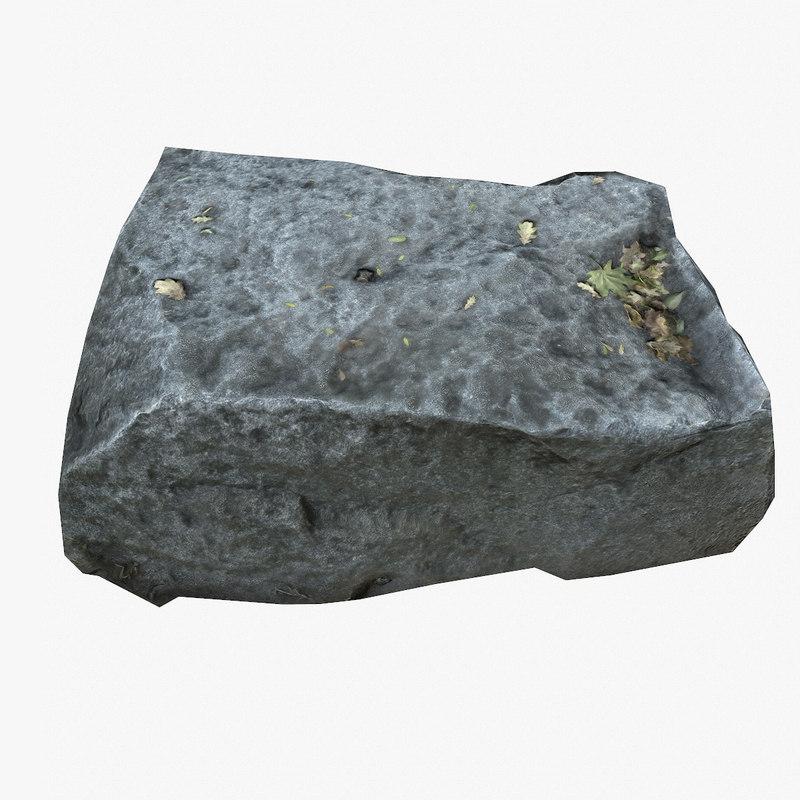 3d model real rock