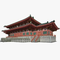 3d x chinese architectural palace