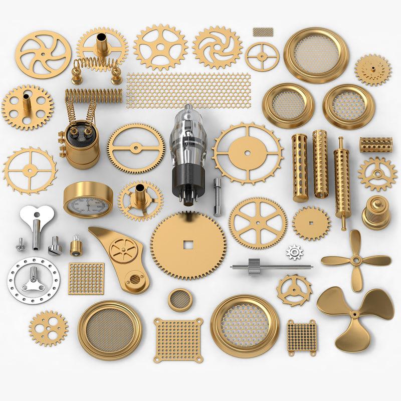 steampunk 50 parts 3d model