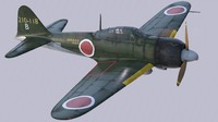 Mitsubishi A6M2 type 22 Zero Fighter - Kamikaze Unit