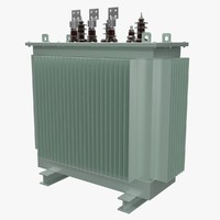 3d electrical transformer model