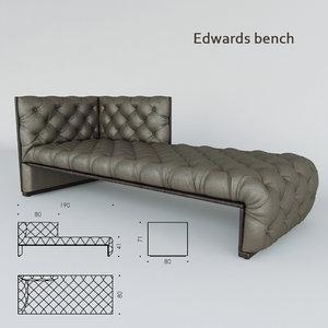 3d edwards bench