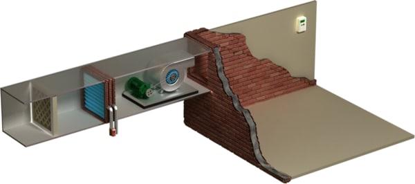 3d model fan coil unit fcu