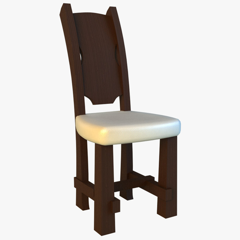 heavy chair old style 3d model