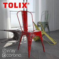 Tolix A chair (vray + corona)