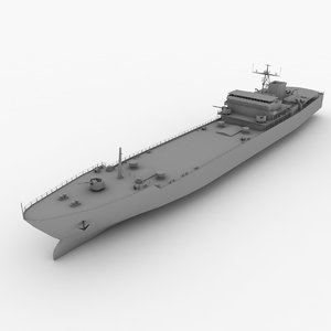 type 072ii-class landing ship 3d model