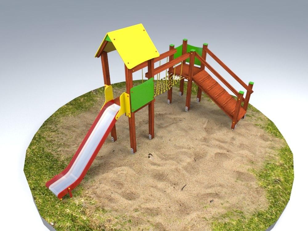 3ds max kids house playground