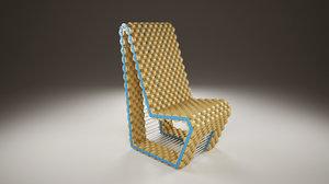 3ds max cork chair