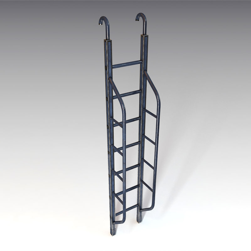 ladder v-ray 3d obj