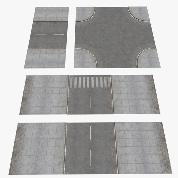 3ds ready road construction set