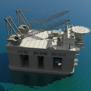 3d model floating crane