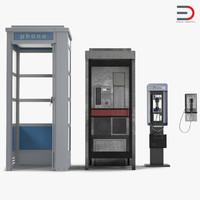 public phones 2 3d model