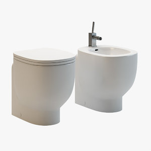 3d model pozzi ginori bathroom fixtures