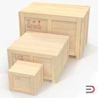 wooden shipping crates 3d max