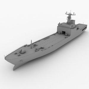 3d type 072iii-class landing ship