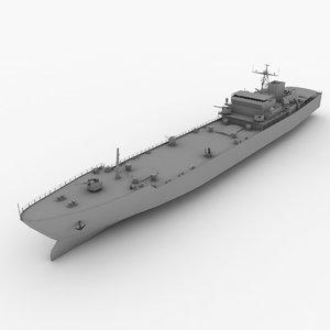 type 072-class landing ship 3d model