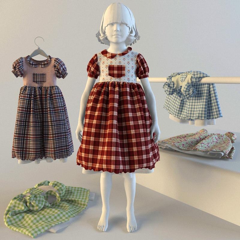 3dsmax baby dress
