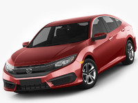 3ds max honda civic 2016