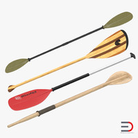 Paddles 3D Models Collection 2