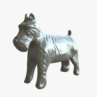 monopoly dog 3d model
