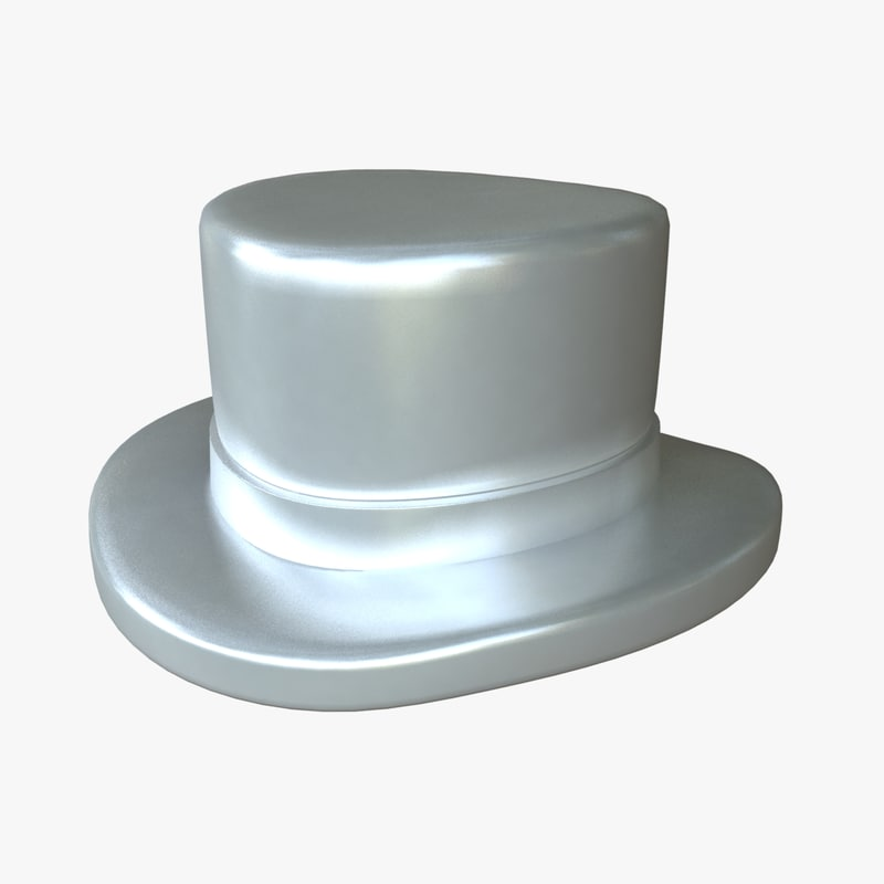 monopoly hat 3d ma