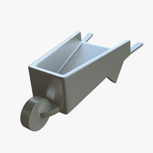 3d model of monopoly wheelbarrow