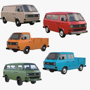 3d t3 volkswagen transporter model
