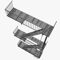 Fire Escape Stairs 02