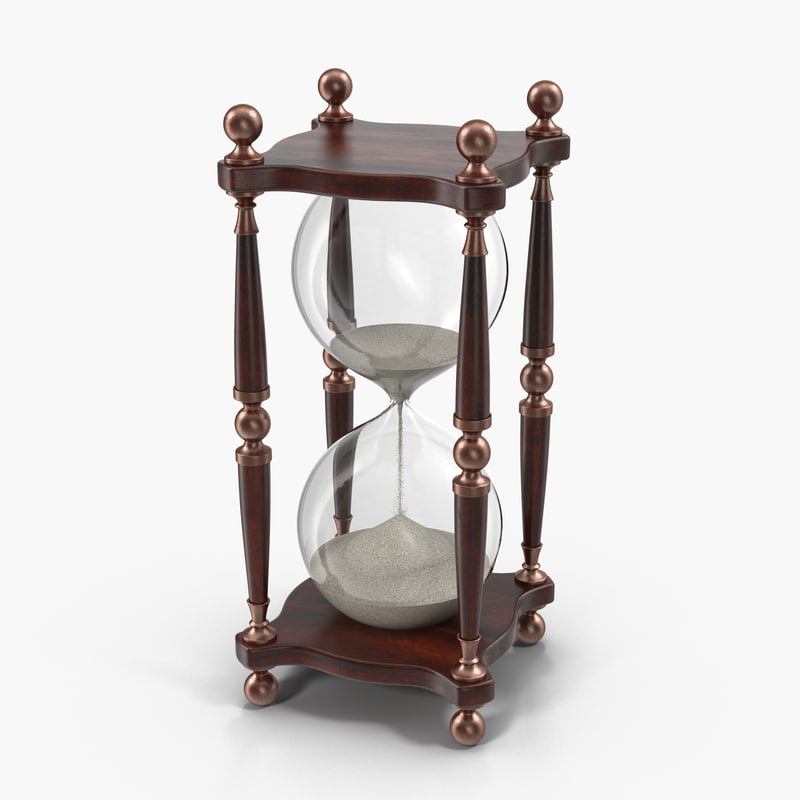 free 3ds model hourglass hour glass