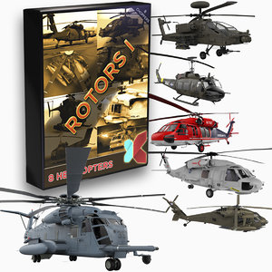 8 helicopter apache 3d model